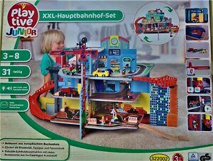 Playtive Junior XXL Hauptbahnhof Set Bahnhof  31 tlg. Licht & Saundeffekten NEU