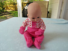 "13"" Antomically Correct Baby Girl Doll #12197G 1220 TC-9 In Sleeper"
