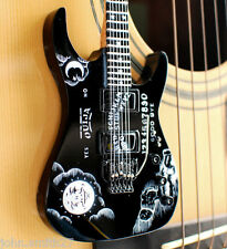 Miniature Guitar Kirk Hammett Metallica Ouija Board Black Awesome
