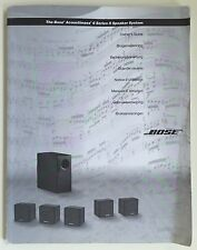 Bose Acoustimass - 6 Series II Owners Manual