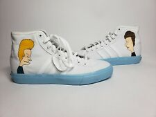 New Adidas Beavis and Butthead Match Court Rx White/Blue db3379 mens sz9