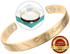 Or Cuivre Magnétique Bracelet Only Love Toi Pain Arthrite Cuff Bangle Wristband