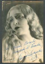 CLAUDIA MUZIO AT BUENOS AIRES 1934 GREAT PHOTO HAND SIGNED