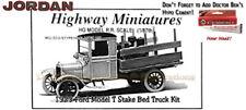 Jordan Highway Miniatures 1923 Ford Model-T Stake Bed Truck Kit fsm NOS HOn3