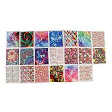 20x Professional Nail Art Sticker Decal DIY Flower&Starry Mixed Design Charm