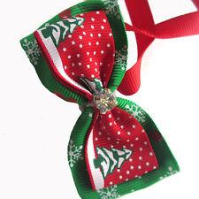 1x Adjustable Pet Dog Tie Bow Collar Merry Christmas Santa Xmas Gift Decor