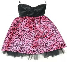 Abbey Dawn By Avril Lavigne Med Black Dress and Pink Logo Bustier Tutu Rockstar
