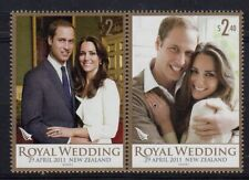 New Zealand 2011 Royal Wedding set fine fresh MNH