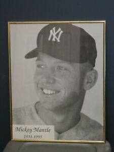 Mickey Mantle Framed Photo