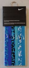 Nike Printed Headbands Assorted 6 Pack Blue Lagoon/Game Royal Size OSFM New