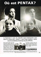 PUBLICITE ADVERTISING 094  1972  ASAHI PENTAX  appareil photo SPOTMATIC 2