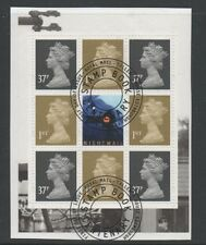Gb 2004 Booklet Pane Sg1668o from Dx32 booklet fine used set stamps on Piece