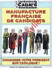 Les dossiers du canard 83 04/2002 Élection Chirac Jospin Le Pen Mamère Laguiller