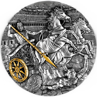 2019 Chariot 2oz Silver Antiqued Coin