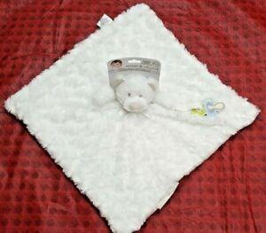 BLANKETS & BEYOND Baby Infant Lovey Security Blanket Adorable Nunu WHITE BEAR