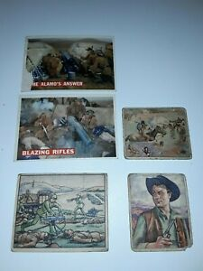1949 Bowman Wild West Picture Card Gum H-15 + 1956 Topps Davy Crockett 54, 77
