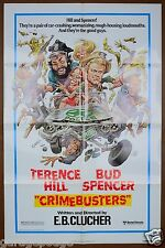 1977 CRIME BUSTERS 1SH ORIGINAL MOVIE POSTER TERRENCE HILL BUD JACK DAVIS ART
