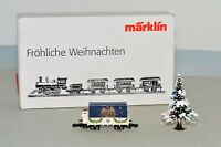 Z Scale Marklin Froh Weihnachten Merry Christmas 1999 Gondola Car w/ Tree RARE