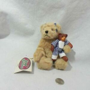 Vtg 96 COTTAGE COLLECTIBLE by GANZ Bear TRACY Artist Designed with TEDDY Holstad