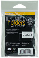 "Lineco Label Holders With Inserts Self Adhesive Archival Safe 2"" x 3"" 12ct"