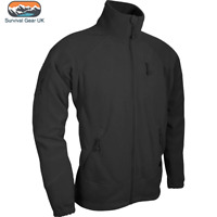 Viper Special Ops Fleece Jacket Mens Tactical Sweater Coat Black
