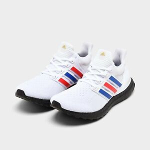 Men's Adidas Ultra Boost Running Shoes White / Royal Blue / Red Sz 10.5 FY9049