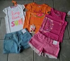 Sz 10 years outfit Gymboree,Bright and Beachy,NWT,tops,shorts,barrettes,6 pc.set