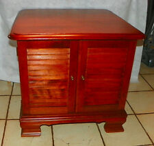 Solid Cherry Mid Century Record Cabinet by Ethan Allen  (DR40)
