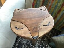 Solid Hardwood Childrens Fox Stool