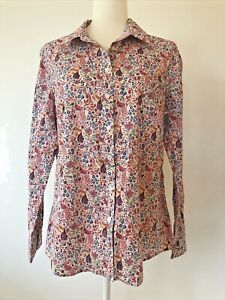 Sportscraft Ladies Shirt Size 14 Liberty Print 100% Cotton