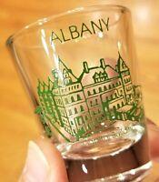 Shot Glass:  ALBANY NY New York USA City Souvenir Single Jigger Bar Glass