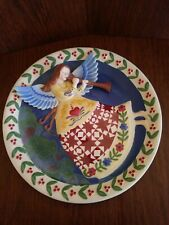 """9"""" Enesco HEARTWOOD CREEK Winter Angel by Jim Shore 3-D Collector's Plate 2004"""