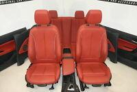 BMW F23 Cabrio Interni IN Pelle Sport Sedili pelle Sedili Rosso Corallo Dakota