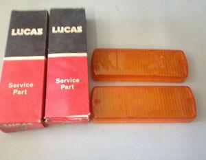 NOS Lucas Front Flasher Pair of Lenses 1975-1976 Jensen Healey