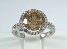 (EGL Cert) Natural Fancy-Brown DIAMOND on GOLD Ring - R9002