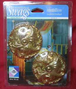NEW Vintage Graber Sensational Swag Solid Brass Curtain/Drape Tieback Holdback
