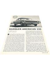 1967 Rambler American 220 - Original Car Review Print Article J400
