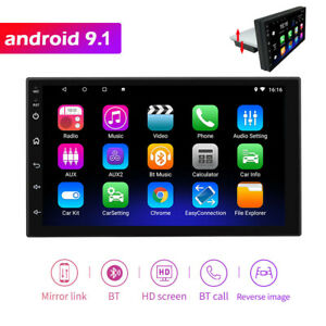 "Single 1Din Android 9.1 Car Stereo GPS Navigation Radio No DVD Player 7"""