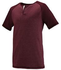 Augusta Sportswear Men's New Slim Fit Short Sleeve Placket Henley T-Shirt. 2152