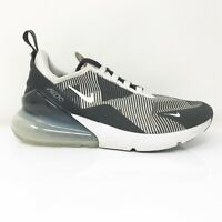 Nike Boys Air Max 270 KJCRD AR0301-007 Black White Running Shoes Lace Up Size 7Y