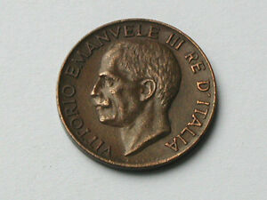 Italy 1926R 5 CENTESIMI Vittorio Emanuele III Coin Engraver Attilio Silvio Motti