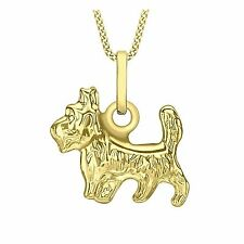 9ct Yellow Gold Yorkshire/ Scottie Terrier Pendant / Charm by Ophir Jewellery
