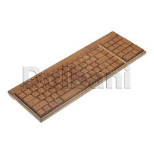 New Wireless Bamboo Keyboard with Number Pad QWERTY US Desktop Laptop PC Mac