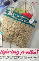 KNITTING PATTERN Ladies Fair Isle Trim Cable Bag Handbag Debbie Bliss PATTERN