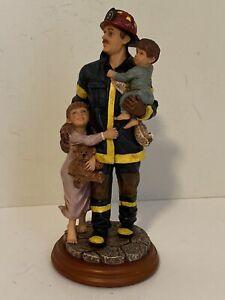 Vanmark Red Hats Of Courage Beyond The Call Hero II  1998 Fireman With Children