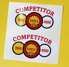 SHELL 4000 RALLY Classic Car COMPETITOR 1966 Race sticker MINI COOPER TRIUMPH