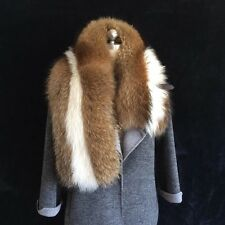 GENUINE finn racoorn Nyctereutes procyonoides FUR SCARF STOLE COLLAR WRAP SHAWL