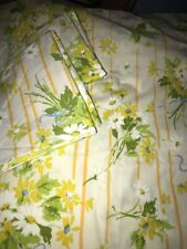 Vintage Utica Percale Full Floral Sheet 2 Standard Pillowcases 3 Pc Set Spring
