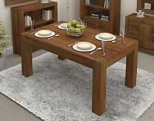 Shiro dining table medium four to six seater solid walnut dark wood furniture