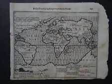 1608 HONDIUS  Mercator Atlas  WORLD THEMATIC map Designatio Orbis Christiani